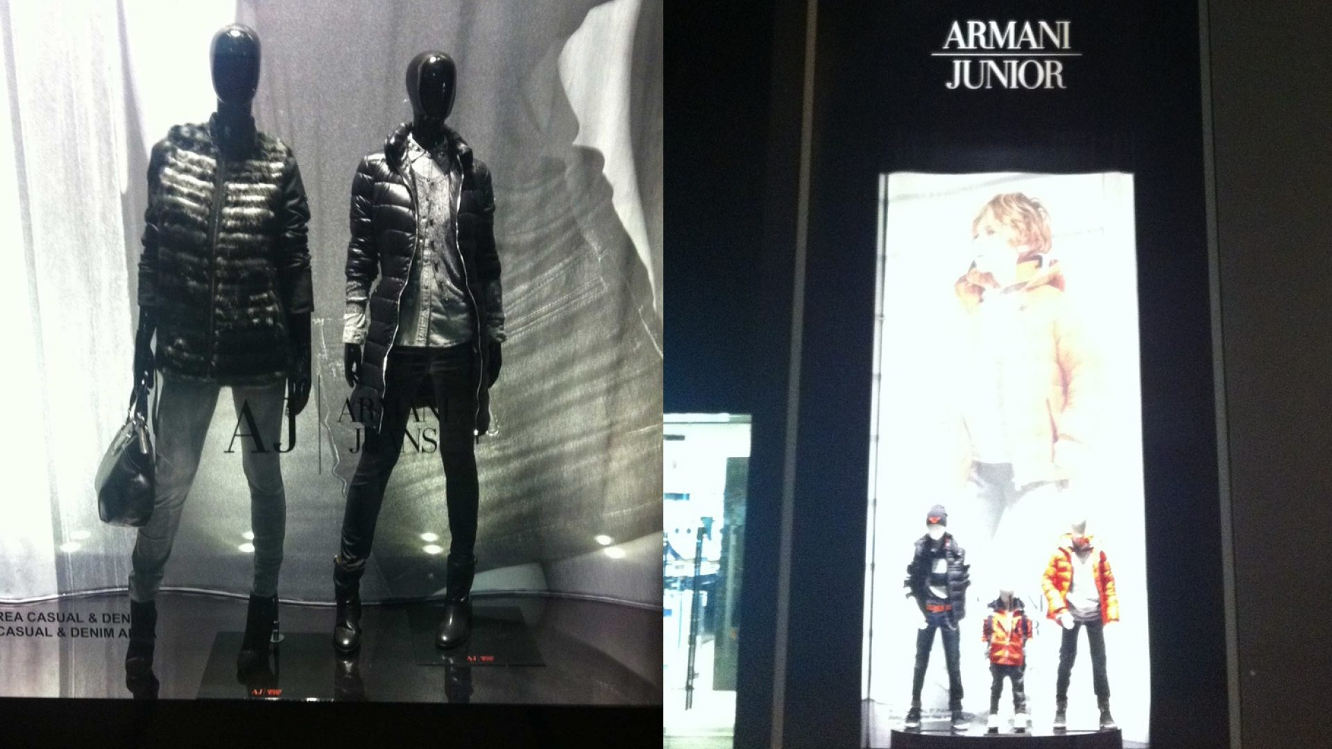 Armani - Selection of hi-profile materials: lacquered wood, steel, mirrors