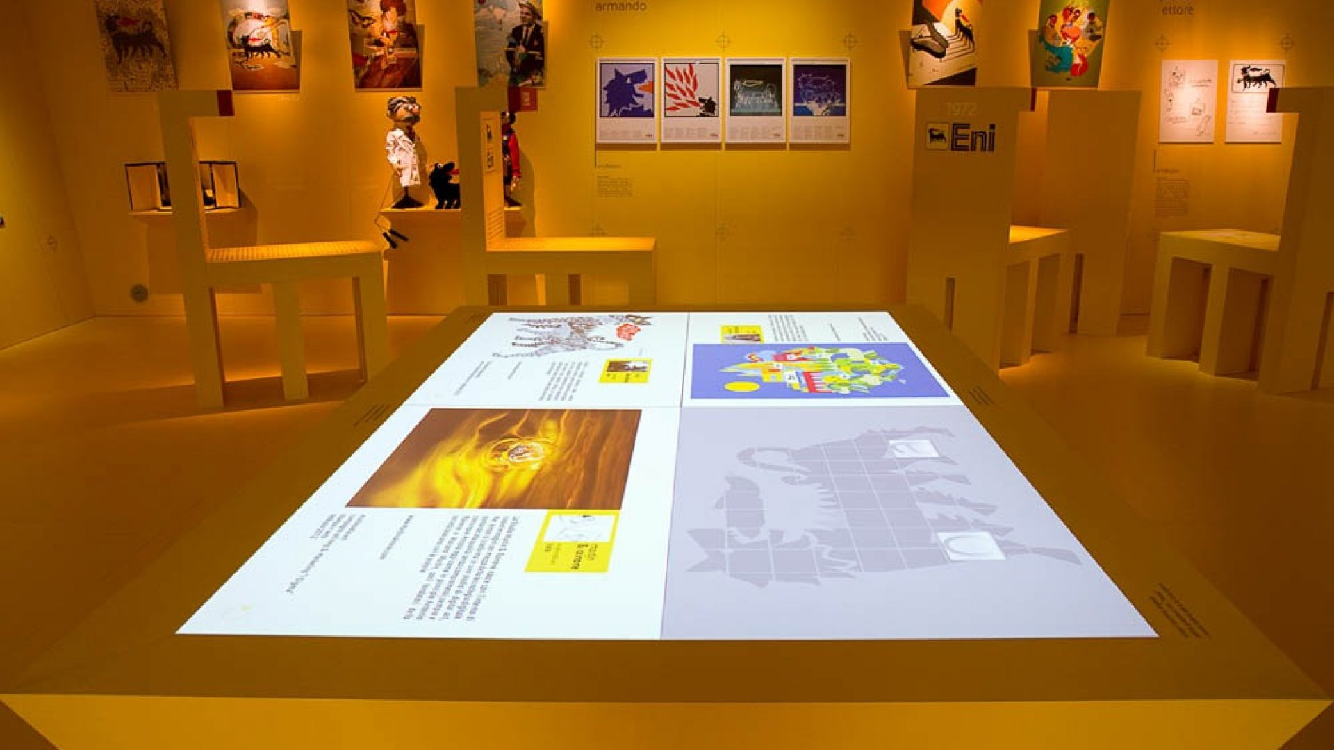 Eni - Path that spans 50 years of Eni brand history through Italian history with emphasis on images/characters/situations that have left their mark on the collective imagination   - by Artes Group International