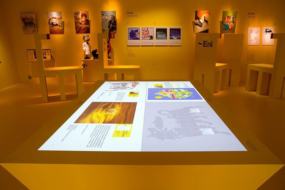 Eni - Percorso che attraversa 50 anni della storia del brand Eni attraverso la storia italiana con enfasi su immagini/personaggi/situazioni che hanno lasciato un segno nell'immaginario collettivo   - by Artes Group International