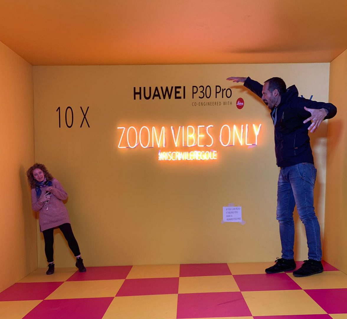 LFM Group per Huawei 2019 - Ames room for playful / sensory effects for IG photo